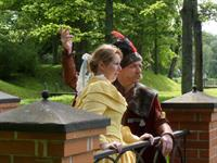 Pan ja pani Rogosi mõisa pargis