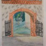 Gaujena laste tööd, Rogosi mõis, parki viiv värav