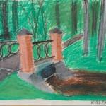 Gaujena laste tööd, Rogosi mõisa park, pargisild