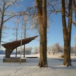 Rogosi mõisa park, vaade laululavale ja järvele